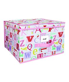 This Owlphabet Jumbo Storage Box by Laura Ashley Home is perfect! #zulilyfinds