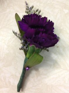 Purple Carnation Boutonniere- Prom 2013     Find us on Facebook! www.facebook.com/prairie.petals