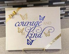 Lovely #uppercaseliving #vinyl design inspired by #Cinderella.  #offthewall #disney #courage #kindness #butterflies #ultorreh
