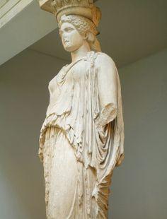 Caryatid (right view), Erechtheion, Acropolis, Athens by profzucker, via Flickr