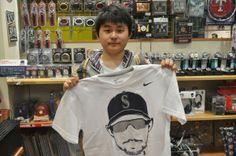 【大阪店】2014年4月10日  MLBファンのお客様!ヘアテージTシャツをご購入いただきました!(≧∇≦)/ #mlb