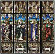 Traditional Stained Glass, Conrad Schmitt Studios Original Designs, St. Augustine Catholic Church, Brighton, Colorado