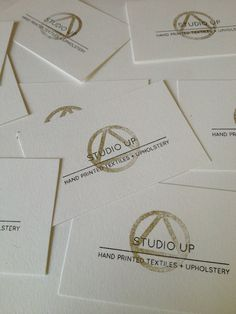 Riso & hand stamped business cards
