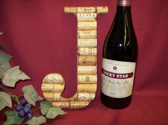 Wine Cork Monogram Initial Personalized Wall Art Gift Wine Decoration Letter J | eBay