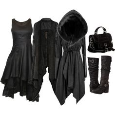 A fashion look from December 2015 featuring Elm dresses, Rick Owens coats and Carlos by Carlos Santana boots. Browse and shop related looks.