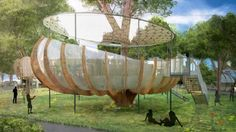 The Invisible City: Temporary High-Tech Treehouses Could Transform London's Parks