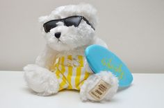 "Giorgio Beverly Hills Surfer 2008 Collectors Teddy Bear Plush Stuffed Animal 12"""