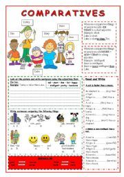 English worksheet: comparative adjectives