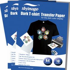 Inkjet Heat Transfer Paper Iron On T-shirt Paper for Dark Fabric