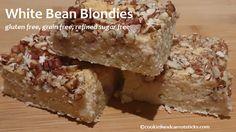 White Bean Blondies - 2 400 g cans butter beans, oil, eggs, sugar, coconut flour, salt, b powder, coconut, pecans
