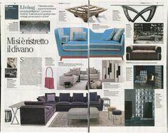 "La Repubblica, 14th April, features Jeremie sofa bed in the ""Trendy"" version"