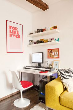 My flat - workspace by h4ndz, via Flickr