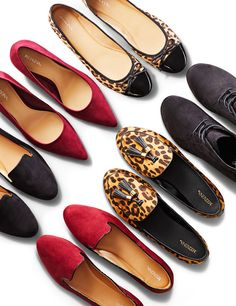 We're crushing hard on fall footwear. With a wild-luxe sort of vibe, these flats, pointy heels and lace-up booties will dress up just about anything—they all deserve a spot in your wardrobe.