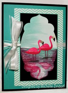 Michelle Zindorf: Freedom in Creating - Flamingo – Stampin' Up! Card - 7/28/14  (Flamingo Lingo)