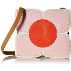 Orla Kiely Square Flower Applique Small Sling Shoulder Bag ($292) ❤ liked on Polyvore featuring bags, handbags, shoulder bags, structured purse, shoulder sling bag, pink purse, sling purse and orla kiely handbags