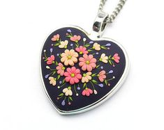 Polymer Clay Necklace Pendant Polymer Clay Jewelry Fashion