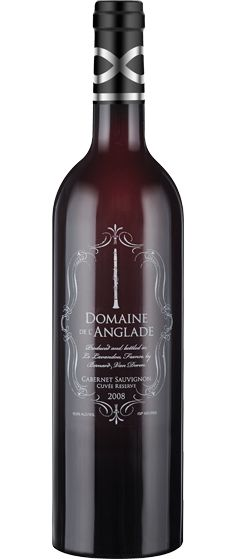 """DOMAINE de l'ANGLADE. 2008 """"Cuvée Reserve"""" Cabernet-Sauvignon. A smooth red that is dominated by cherry and spices, with smoky notes that recall its 12-month aging period in French oak casks."""