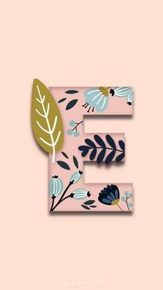 Graphic Wallpaper, Pattern Wallpaper, Iphone Wallpaper, Initial Art, Letter Art, Flower Background Wallpaper, Flower Backgrounds, Floral Font, Funny Phone Wallpaper