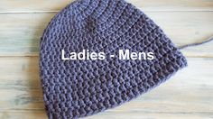 Happy Berry Crochet: How To - Crochet a Quick and Simple Beanie for Ladies to Mens Size