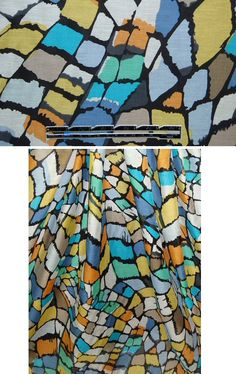 Alice & Trixie stylized mosaic cotton/silk voile from Emmaonesock.com