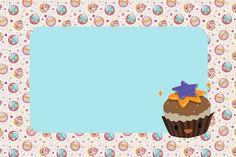 Cupcakes Fofinhos - Kit Completo com molduras para convites, rótulos para guloseimas, lembrancinhas e imagens! Party Sweets, Clip Art, Label, Awesome, Frame, Cupcakes, Home Decor, Illustration, Sweet Like Candy