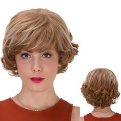 SHARE & Get it FREE | Brown Highlights Short Full Bang Curly Synthetic WigFor Fashion Lovers only:80,000+ Items·FREE SHIPPING Join Dresslily: Get YOUR $50 NOW! Full Bangs, Brown Highlights, Wig Cap, Synthetic Wigs, Hairstyles With Bangs, Curly, Join, Lovers, Free Shipping