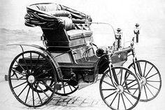 La Daimler Schroedter-Wagen, photo d'époque, cette automobile de collection fut construite de 1892 à 1895.