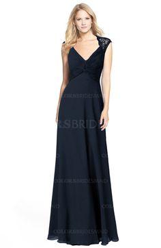 e4a2ebd90d ColsBM Kara Modest Fit-n-Flare V-neck Sleeveless Chiffon Floor Length