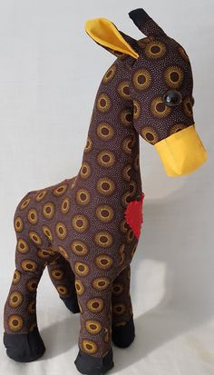 Your place to buy and sell all things handmade Pet Toys, Baby Toys, Giraffe Toy, Dinosaur Stuffed Animal, Stuffed Giraffe, Stuffed Toy, Animal Decor, African Animals, Animal Nursery
