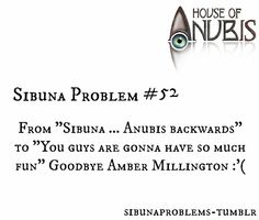 """""""From """"Sibuna … Anubis backwards"""" to """"You guys are gonna have so much fun"""" Goodbye Amber Millington :'("""""""