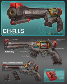 Commission: Dartgun Concept by aiyeahhs on DeviantArt