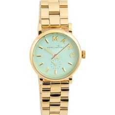 Marc By Marc Jacobs Baker MBM3284 Watch ($200) ❤ liked on Polyvore featuring jewelry, watches, accessories, bracelets, reloj, water resistant watches, dial watches, steel jewelry, analog watches and marc by marc jacobs