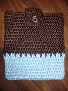 Blue And Brown Kindle Cover by primatwinstar on Etsy, $10.00