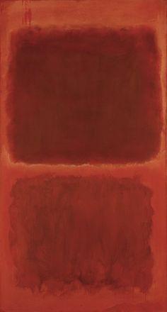 "dailyrothko:  ""Mark Rothko, No. 44, 1955, Oil on canvas, unframed 81.5 × 43 × 1.1875 inches  """