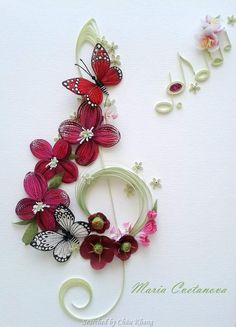 @ Maria- Quilled treble clef pictures (Searched by Châu Khang)