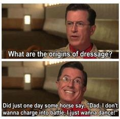 Colbert Dressage Nation: Origins of Dressage... I know this horse!
