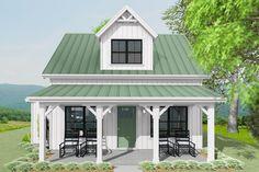 Cottage House Plans, Cottage Homes, Cottage Ideas, Small House Floor Plans, Guest House Plans, Small Cottages, Small Cabins, Small House Design, Small Cabin Designs