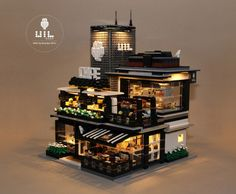 "LEGO Modular MOC - UiL Cafe ""Mingle with the night"""