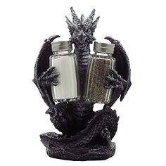 Mythical Dragon Salt and Pepper Shaker Set with Holder Figurine for Medieval & Fantasy Bar or Kitchen Table Decor Sculptures and Gothic Gifts Generic http://www.amazon.com/dp/B00LKAGNY6/ref=cm_sw_r_pi_dp_COhnub04YAMNN