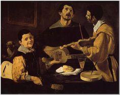 Diego Rodriguez de Silva Velazquez (1599-1660) Three Musicians Oil on canvas 1617-1618 Staatliche Museen (Berlin, Germany)