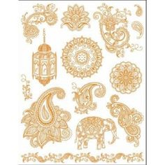 Viva Decor My Paper World Silicone Stamps - India Paisley Solche brauch ich auch! Henna Tatoos, Henna Mehndi, Henna Art, Paisley Tattoos, Henna Tattoo Sleeve, Lotus Tattoo, Mehndi Patterns, Mehndi Designs, Quilling Patterns