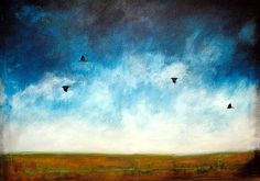Limited Edition Fine Art Print by Joelle Cathleen.  As the Crows Fly .