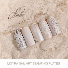 "276 Likes, 3 Comments - Moyra Nail Polish and Stamping (@moyra_nailpolish_and_stamping) on Instagram: ""Nail art with Moyra Stamping Plate No. 01 Globetrotter, No. 03 Ornaments, Mini Stamping Plate No.…"""