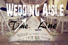 "Making your wedding ceremony aisle a ""Timeline"" of your meeting, dating & engagement? Or, a ""Timeline"" of the bride's life from birth to the wedding day! More creative wedding ceremony ideas from Dr. Linda, The Clergy Network, Legallymarried & www.etsy.com/Shop/WeddingVowsVibe!"