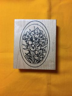 A personal favorite from my Etsy shop https://www.etsy.com/listing/509223198/2004-oval-northwoods-rubber-stamp-with