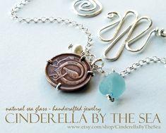Coin Jewelry. Genuine Sea Glass Jewelry. Irish Sea Glass & Genuine Irish Coin Necklace. Irish Half Penny Coin. Handmade