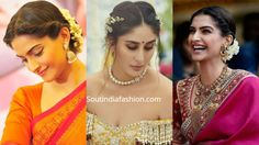 Top 10 South Indian Bridal Hairstyles For Weddings, Engagement etc. – Famous Last Words Indian Party Hairstyles, Hairstyles For Gowns, Saree Hairstyles, Open Hairstyles, Elegant Hairstyles, Celebrity Hairstyles, Bride Hairstyles, Wedding Reception Hairstyles, Simple Wedding Hairstyles