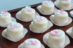 classic petit fours made with vanilla pound cake