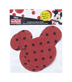 Disney Mickey Mouse Ears Adhesive Printed Burlap Large