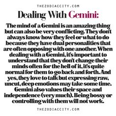 Zodiac Files: Dealing With A Gemini | TheZodiacCity